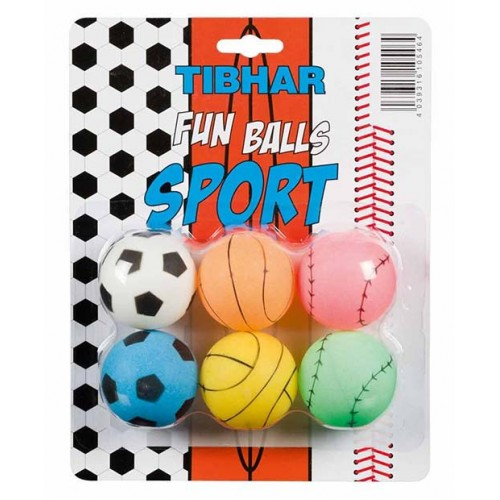 Tibhar boll Fun Sports 6-pack