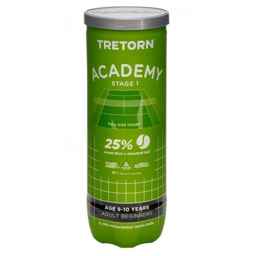 Tretorn boll Academy Green 3-pack